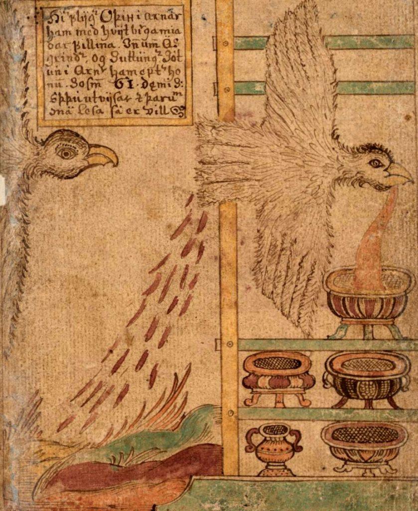 Dans les légendes nordiques, c'est Odin qui vola l'hydromel poétique sous la forme d'un aigle.